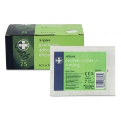 Relipore Paediatric 'Ouch' Adhesive Dressings 6cm x7 cm (Box Of 25)