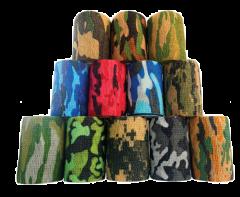 Inksafe Camouflage Colours Cohesive Bandages 7.5cm x 4.5m (Box of 12)