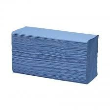 Recycled Hand Towels 1 ply V Fold Blue (Pack Of 300)