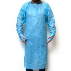 Protective Thumb Loop Gown  PPE Cat I Certified - Fluid Resistant - SINGLE