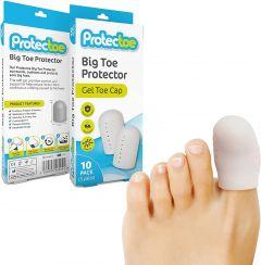 Protectoe Big Toe Protector Gel Toe Cap - Pack of 10