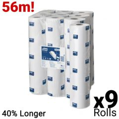 Tork Couch Roll Advanced White 2 Ply Case of 9 Rolls - 48cm x 56m