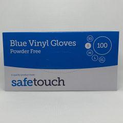 Safetouch Disposable Vinyl Gloves (Blue)